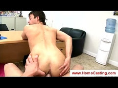 Casting director stretches a boy anally