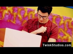 Hot gay scene Rich nerdy lad teen fellow wishes for the remarkable