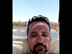 Naked spanish guy on pool live on periscope