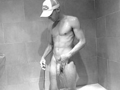 Big cock under the shower