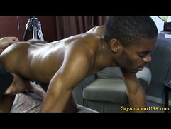 Straight black jock thick dick massaged