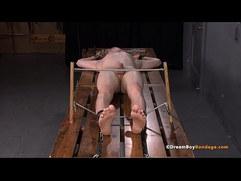Young Blonde Twink Felix Maze Captured BDSM Cum Torture Whipping Electrocution Gay Bondage DreamBoyBondage