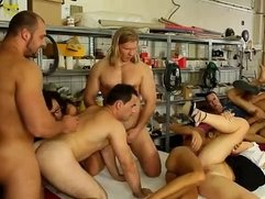 Hardcore group bisexual orgy