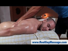 Straight guy slowly turned by gay massage