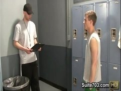 Gay jocks Brent and Conner suck their cocks in locker room only on  Suite703