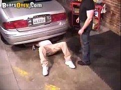 Jock Mechanic Gets Groped