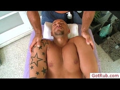 Hot black guy massaged by gotrub
